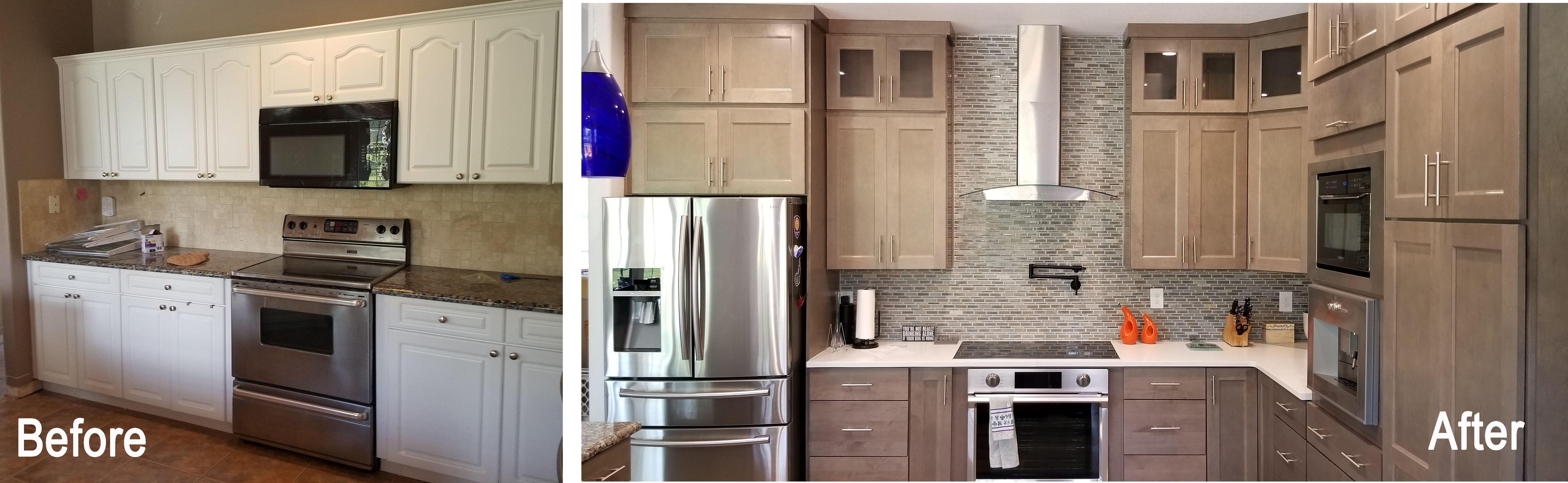 Transitional Kitchen Update Done In A Smoke Finish Kitchen Remodeling Projects Home Kitchens Kitchen