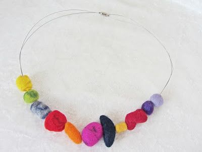 jewelry felted