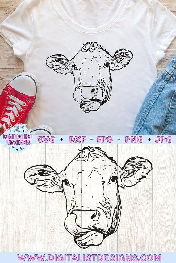 Cricut Cow Svg : cricut, Heifer, Clipart, Files, Clipart,, Face,, Cricut, Projects, Vinyl