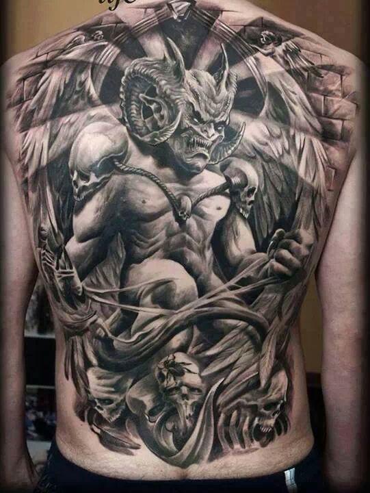 Horned Demon  – Best tattoos, best tattoo artists