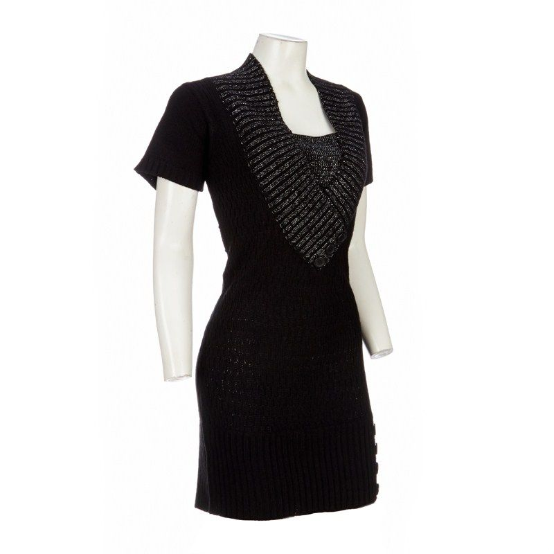 f87340adc Deep V-Neck Sweater Dress - Jr Plus Burlington Coat Factory XL ...