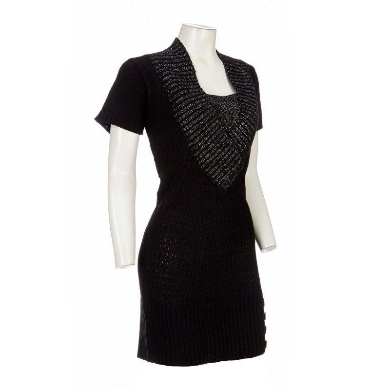 85ecd71f6 Deep V-Neck Sweater Dress - Jr Plus Burlington Coat Factory XL ...