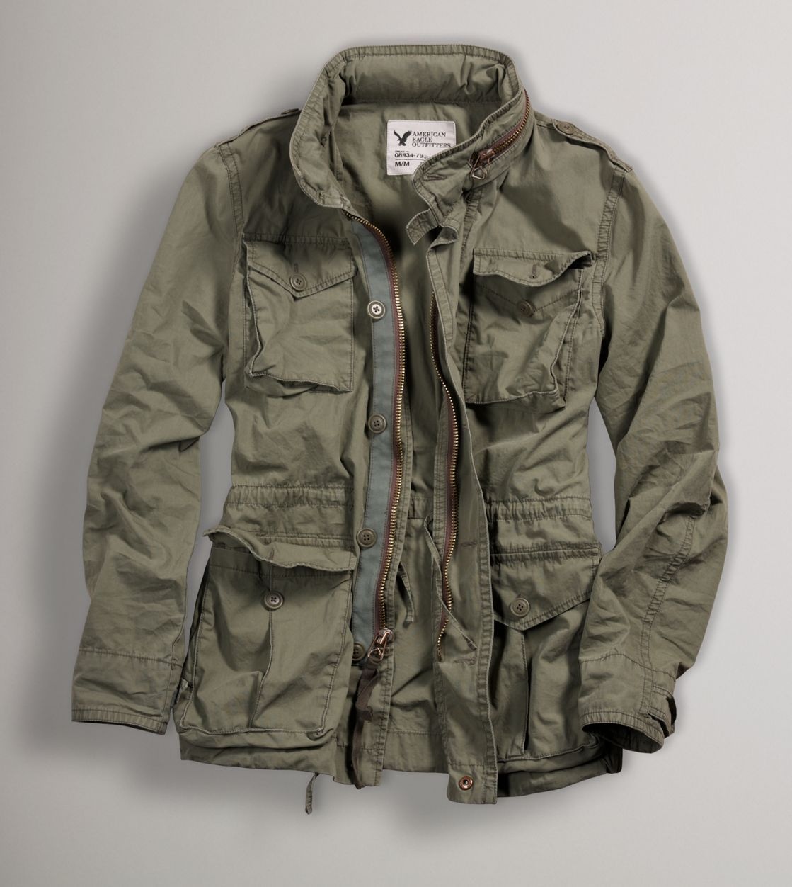 AEO Filled Military Jacket | Military style jackets, Military ...