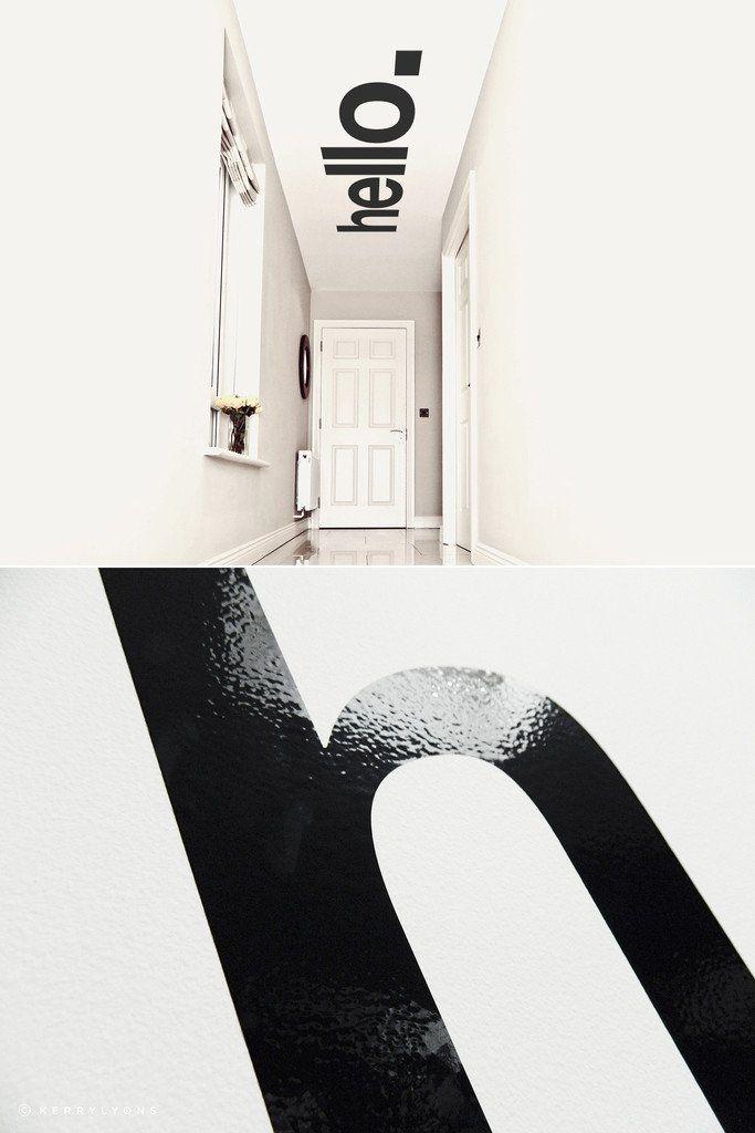 Hello Hallway Ceiling Sticker - $105   Ceiling art ...