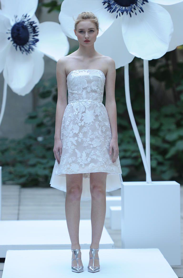 Mini wedding dresses  Lela Rose Shows Romantic Elegant Wedding Dresses for Fall