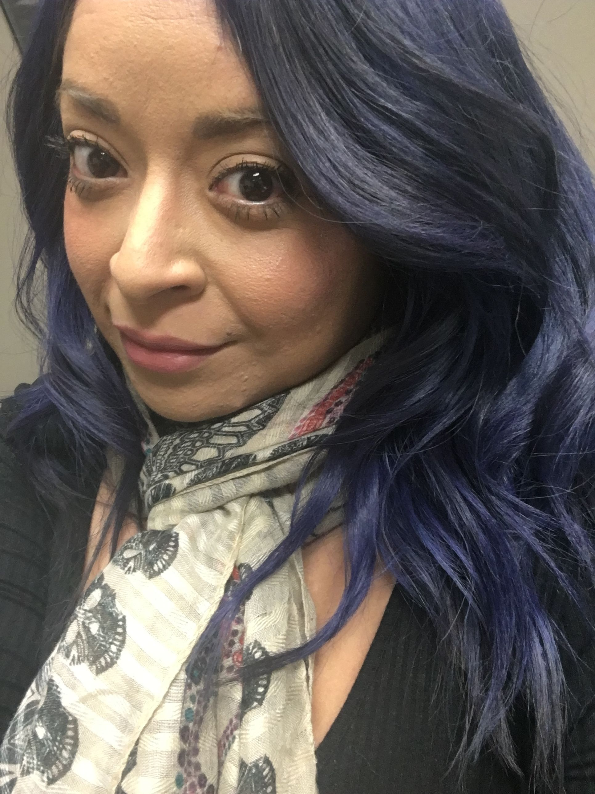 Manic Panic Ultra Violet Mixed With Shocking Blue Hair Inspiration Hair Styles Shocking Blue