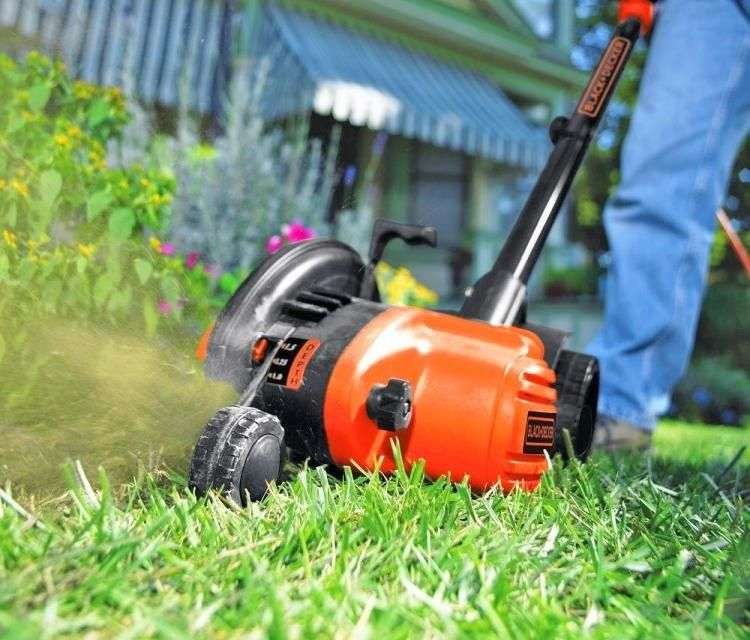 Electric Edge Trimmer And Trencher Keeps Edges Super Clean And Tidy Black And 1000 In 2020 Best Lawn Edger Grass Cutter Lawn Edger