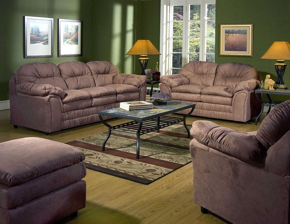 Serta 5750 Chocolate Microfiber Sofa And Loveseat #Simmons #Traditional