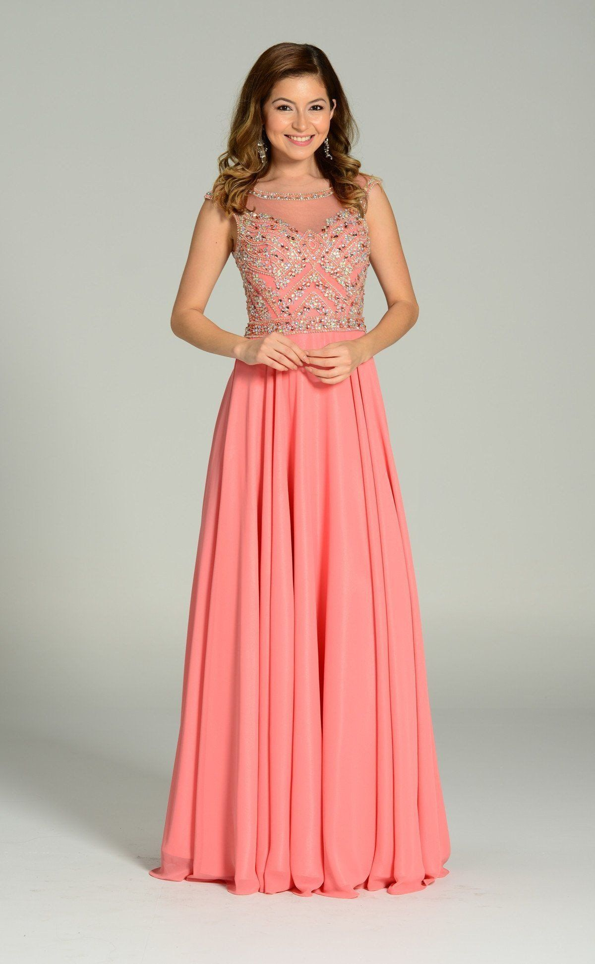 Fully beaded bodice long bridesmaids dress 101- 7250   Pinterest ...