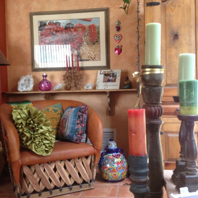 Mexican Home Decorations: Mexican Themed Living Room. Love It