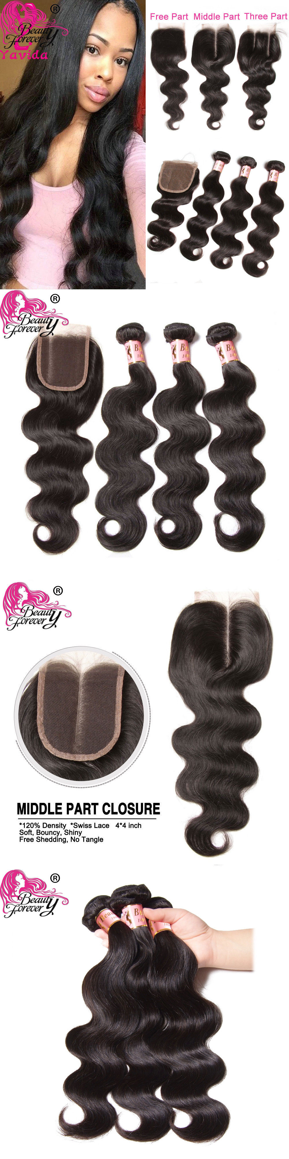 Hair Extensions 3 Bundles Brazilian Body Wave Human Hair With