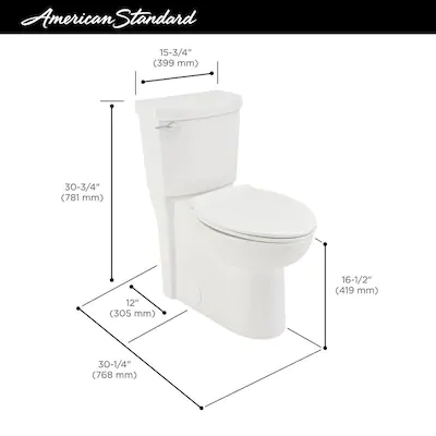 American Standard Clean White Watersense Elongated Chair Height 2 Piece Toilet 12 In Rough In Size At Lowes Com Water Sense Toilet American Standard