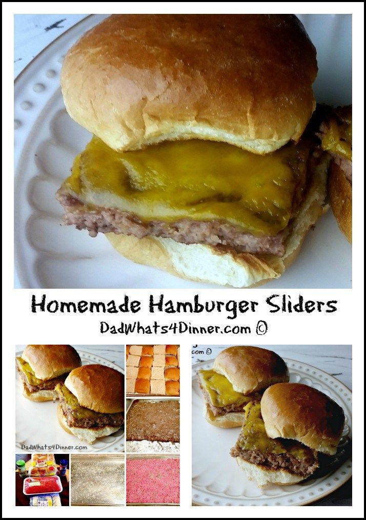 Homemade Hamburger Sliders are tiny steamed hamburgers usually served with onions, pickles and cheese.