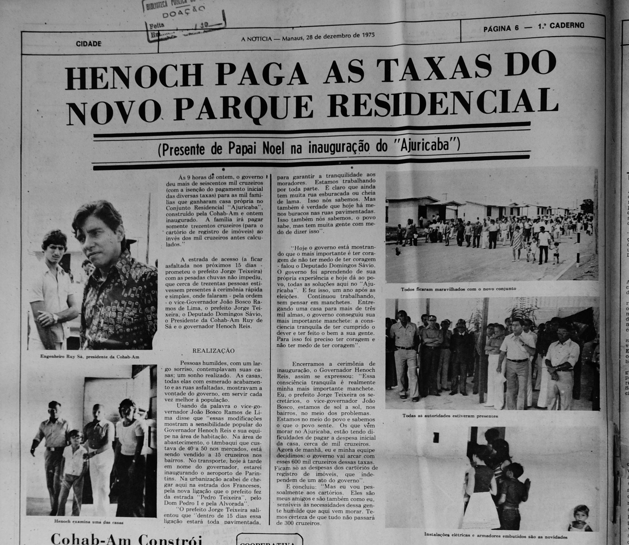 Jornal A Notícia 28/12/1975