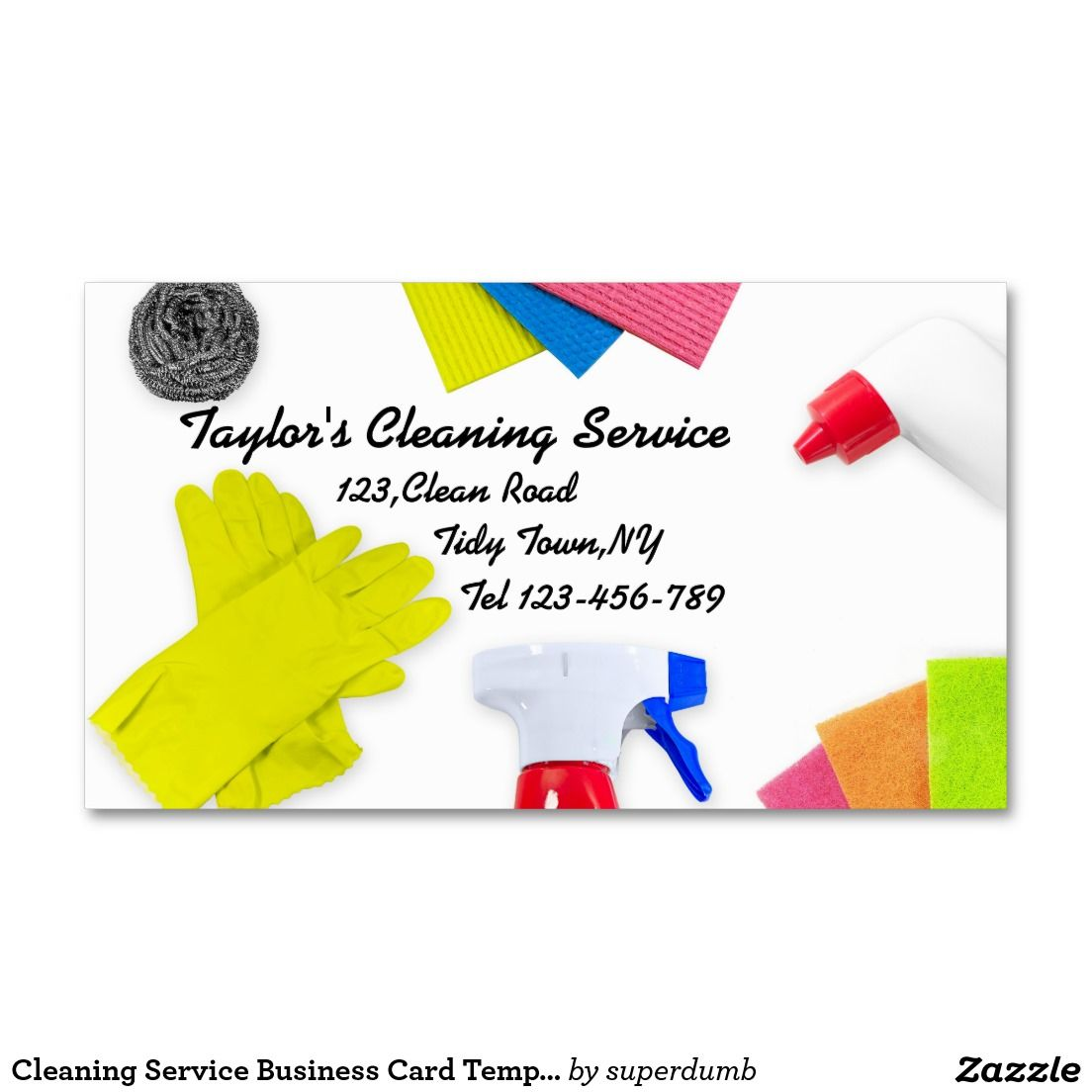 Service Business Card Template Visitenkarten