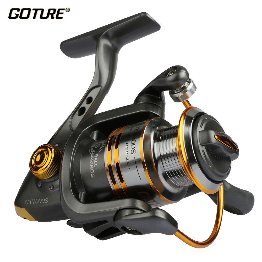 Goture Spinning Fishing Reel Metal Spool 6BB For Freshwater ...