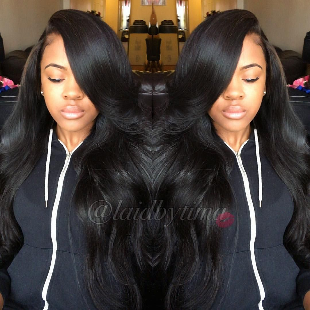 3 Part Method Side Part Loose Curls Laid Laidbytima Hair Hairstylist Nychair Nychairstylist Queens Black Curly Hair Hair Inspiration Sew In Curls