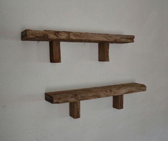 Pair of very rustic wall shelves 22 wide 4 deep
