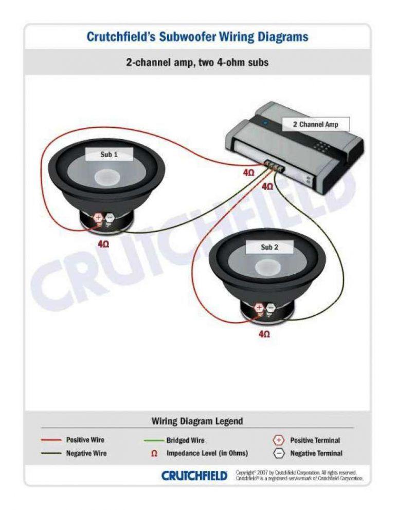 2 ohm sub wiring diagram origin at dual 1  subwoofer wiring