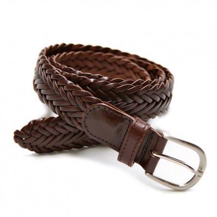 c23fb3cf6f3fd Ceinture tressée marron - 65€ | Wish list | Belt, Leather, Casual jeans