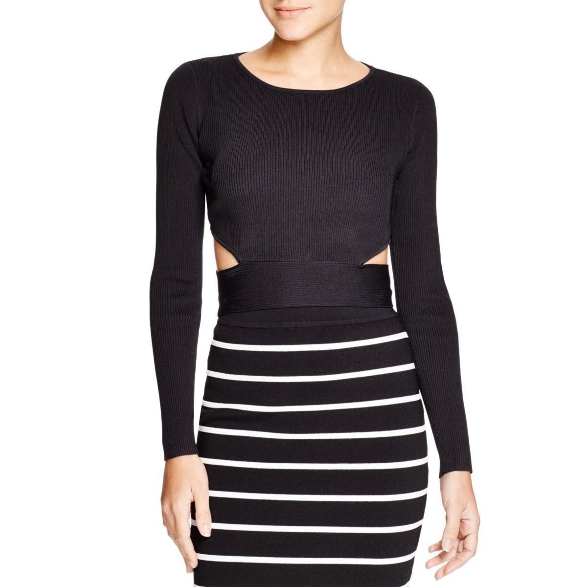 Lucy paris womens ribbed knit cutout crop sweater products