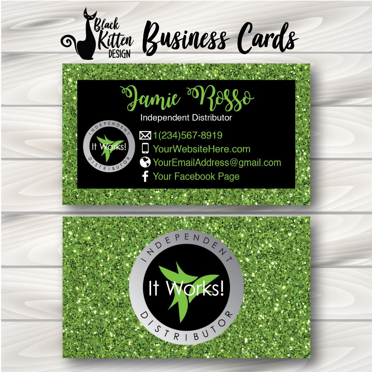 Pin On It Works It works business card template