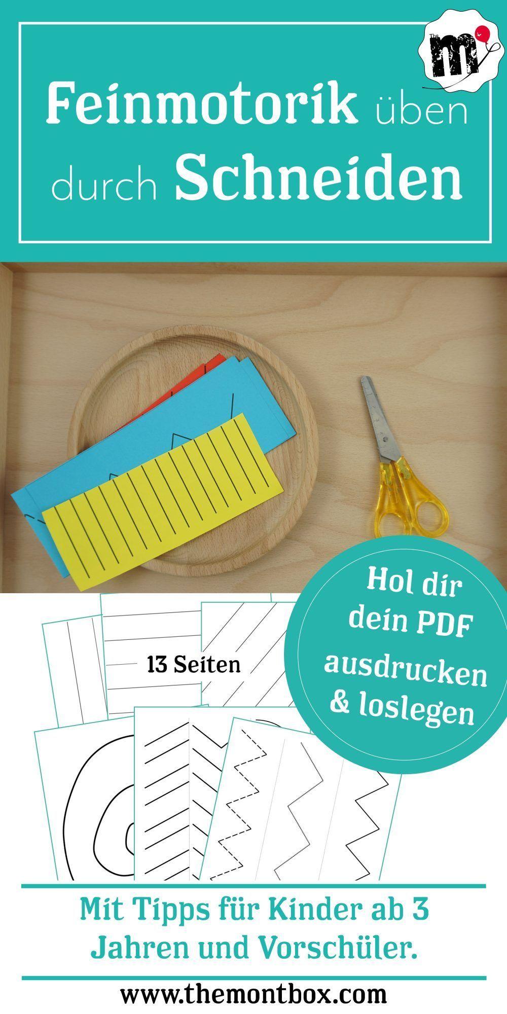 Montessori-inspirierte Feinmotorikübung: Schneiden - The Montbox