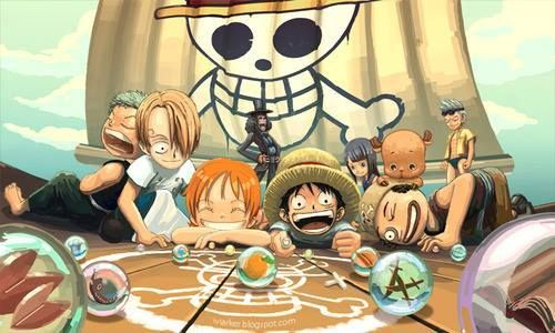 The Straw Hats as kids.