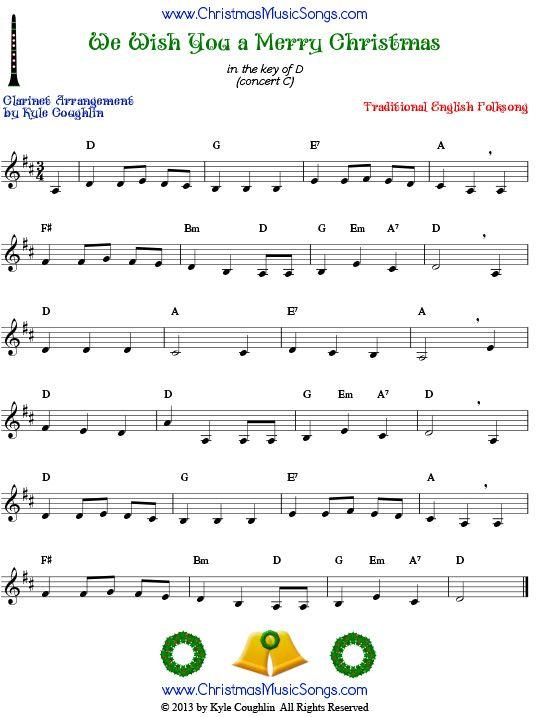 Smart image pertaining to free printable clarinet sheet music
