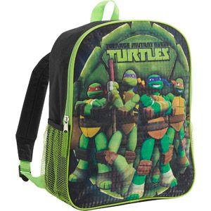 """Teenage Mutant Ninja Turtles 16"""" backpack with Lunk kit"""