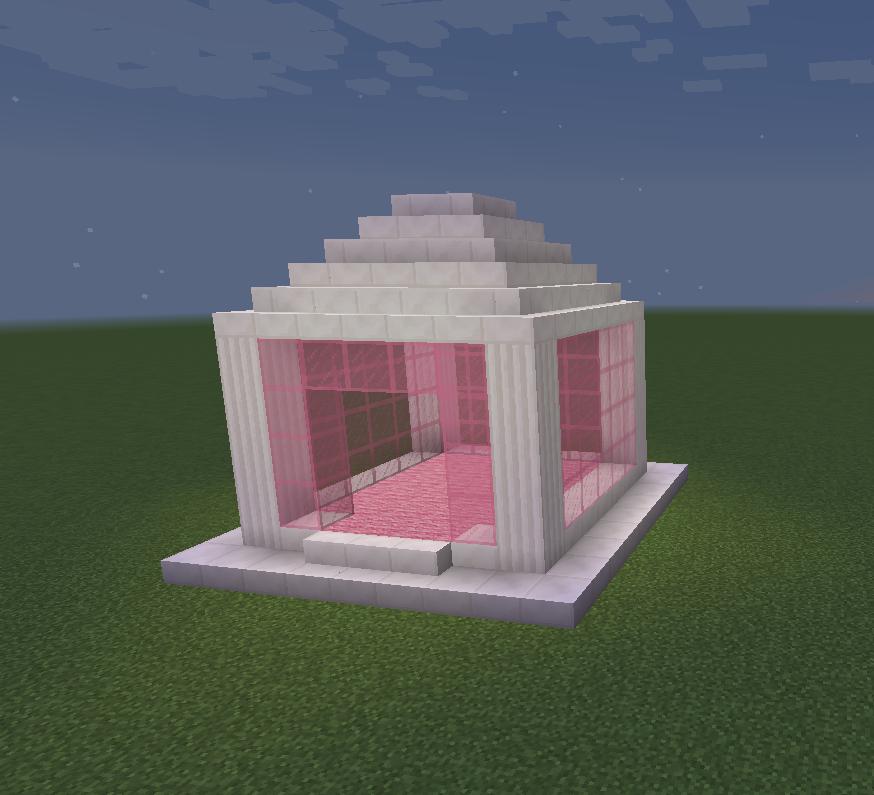 Minecraft Temple Gazebo Glass Pink