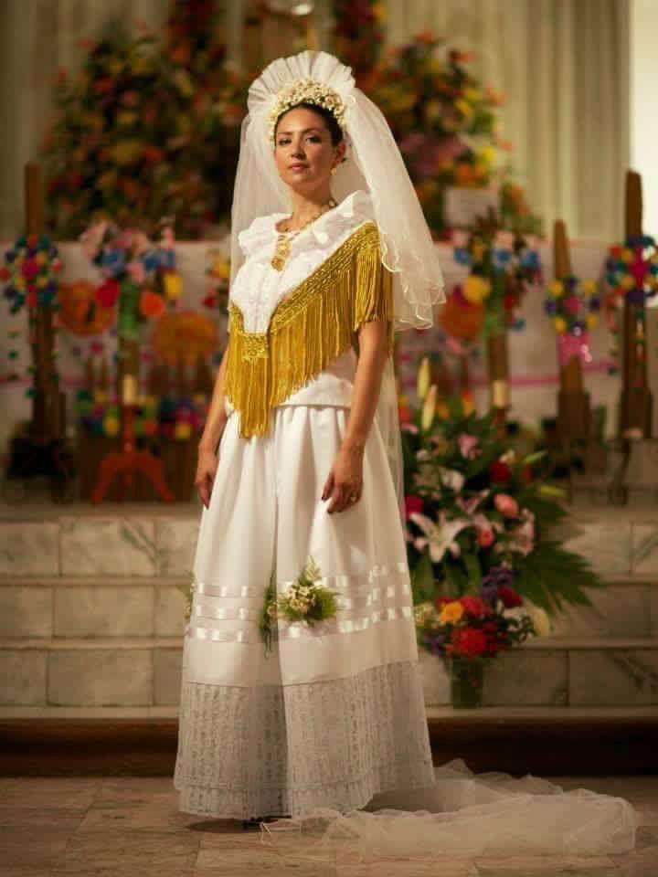 Vestido Regional De Novia Del Istmo De Tehuantepec Oaxaca