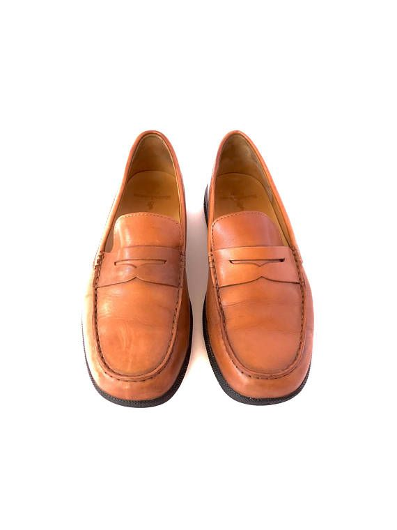 354be3c6507 Mens Leather Penny Loafers 10.5