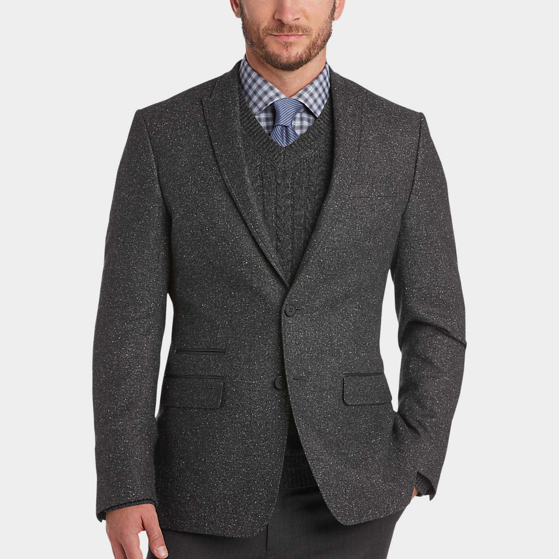 Buy a Calvin Klein Black & White Tweed Extreme Slim Fit Sport Coat ...