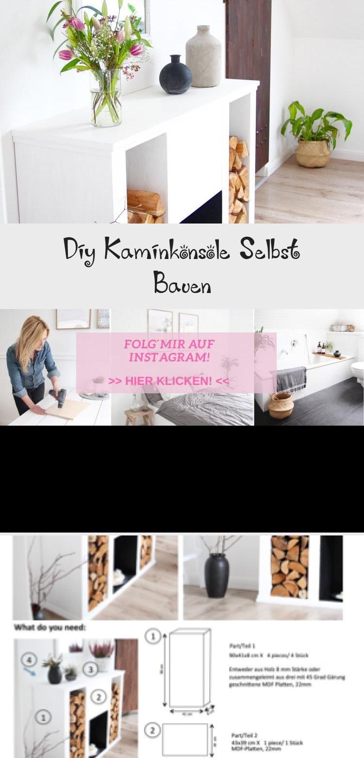 Diy Kaminkonsole Selbst Bauen  Decor, Floating nightstand, Diy