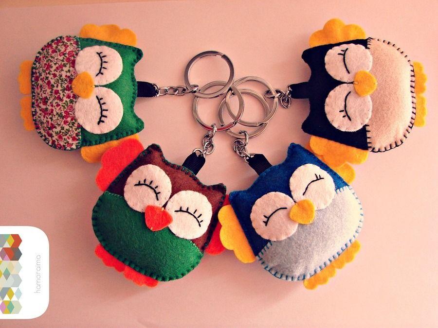 Bien connu Porte-clés Hibou en feutrine animaux de couleurs … | Pinteres… OK24