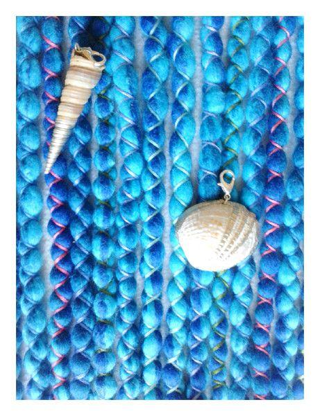 """Weiteres - 8 DE Mermaid Wooldreads """"Ocean"""" - ein Designerstück von Katinka-Dreads bei DaWanda"""