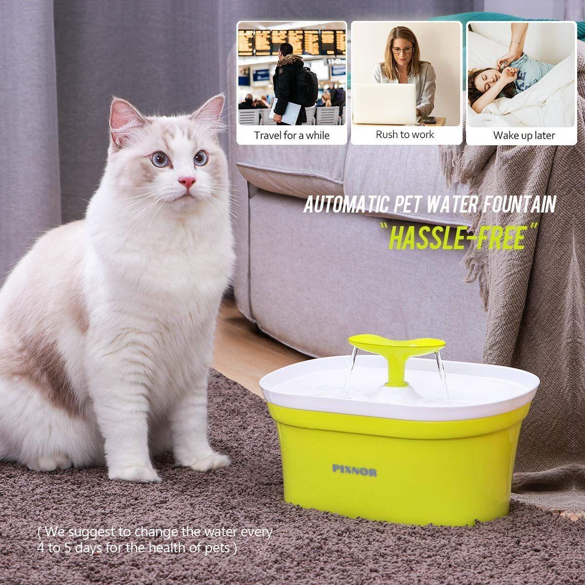 Pixnor Pet Fountain 95oz 2 8l Automatic Cat Water Fountain Dog