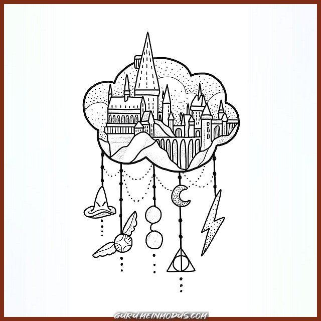 Guru Meinmodus Com Tattoo Zeichnungen Tatowierungen Fur Frauen Tattoo Skizzen Minimalistische Tattoos Geometrische Tattoos Aquarell Tattoos Harry Potter Tattoos Harry Potter Schloss Zeichnung
