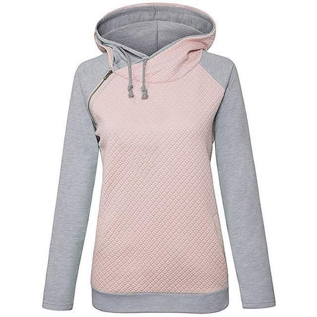 2018 New Fahsion Hoodies For Women Zipper decoration Long Sleeve Spring Autumn 2