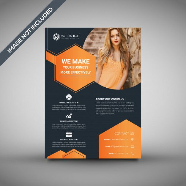 orange and black flyer template professional flyer template premium
