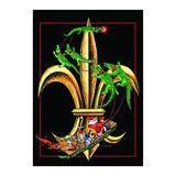 Santa's Gator Sleigh Fleur-de-Lis Flag (Large or Garden Size) | Louisiana Online Mall