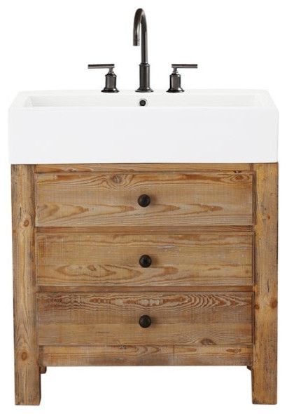 Interesting Pine Vanity Table With Reclaimed Wood Bathroom Single Sink Console Wax