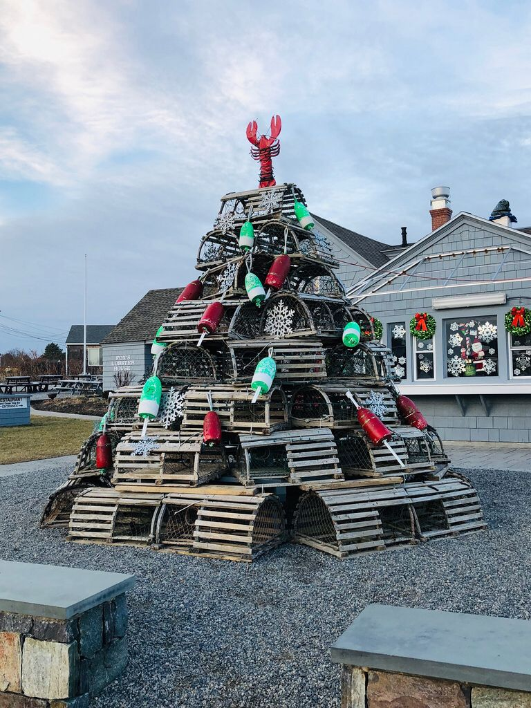 Lobster Pot Christmas Tree. York, Maine. Paul Chandler December 2018. | Potted christmas trees ...