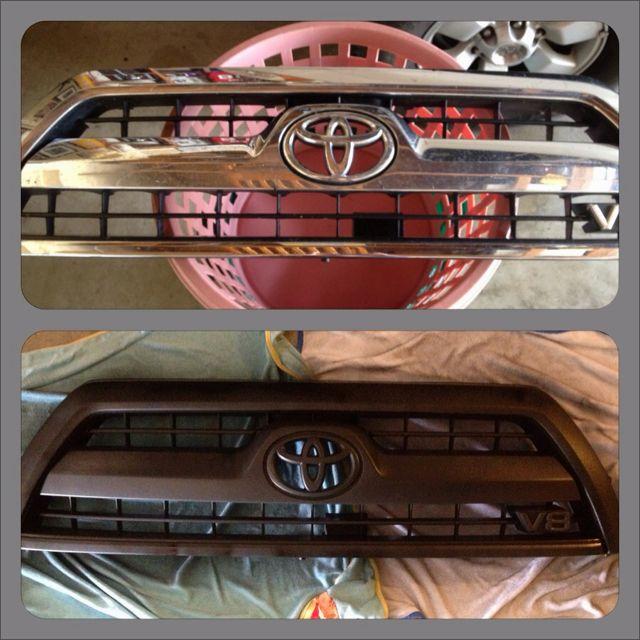 plasti dip before and after truck detailing 4runner plasti dip car pinterest