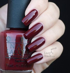 James Bond Opi Nailpolish Skyfall Here You Go Emilie Southward Your Merlot Color