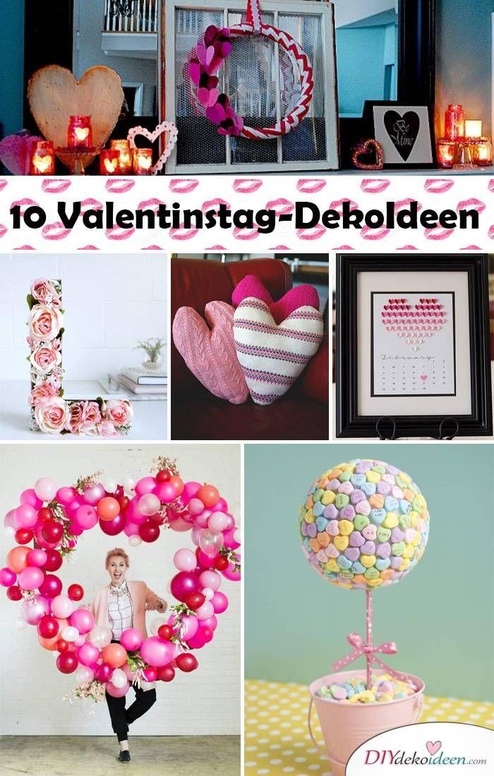 Schön 10 Tolle DIY Deko Ideen Für Den Valentinstag