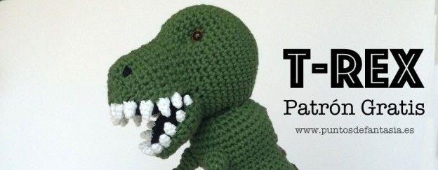 Patrón Gratis Amigurumi dinosaurio t-rex
