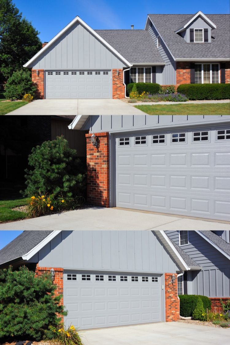 Short Raised Panel Garage Door In 2020 Garage Doors Garage Door