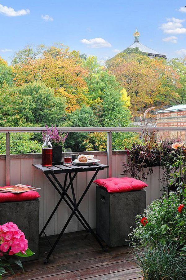Decoraci n para mini terrazas estilo escandinavo patios y terrazas pinterest decorar tu - Decoracion de patios y terrazas ...